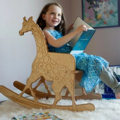 Giraffe Rocking Chair Burlesque Dance Moves Wooden Childs With Print