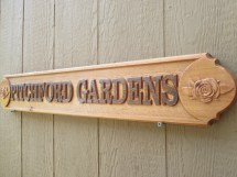Custom Outdoor Signs Rose Garden Sign Personalized Cedar