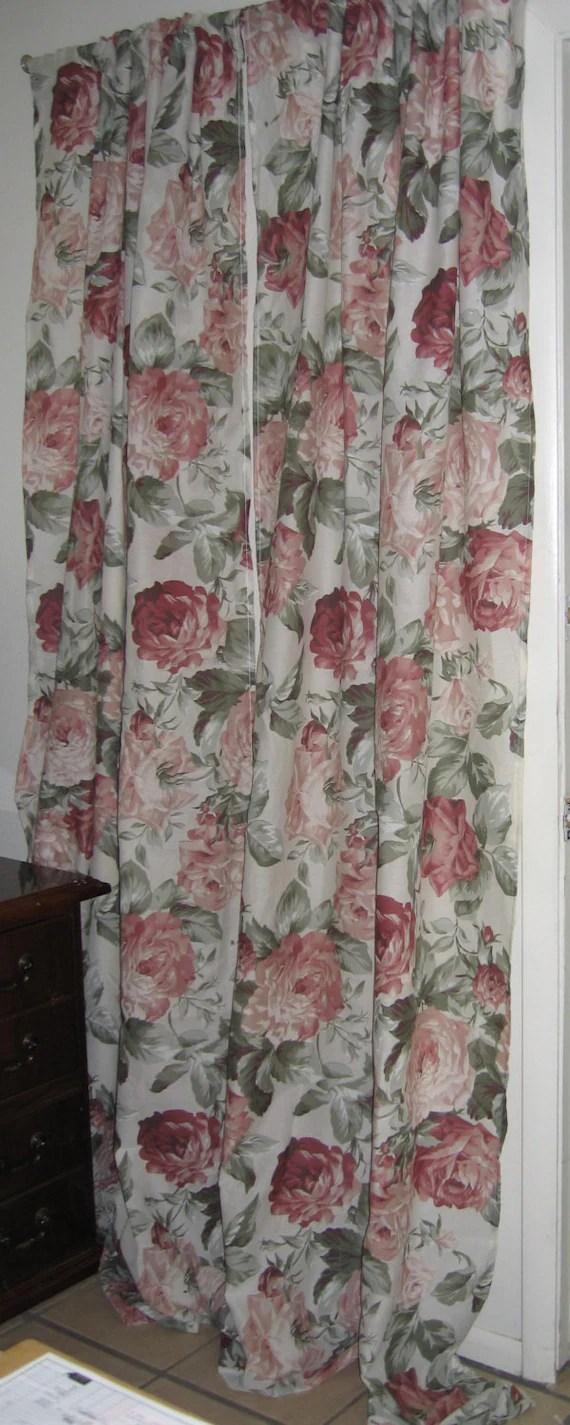 Boho CurtainsFarmhouseCottageCabbage RosesShabby Chic