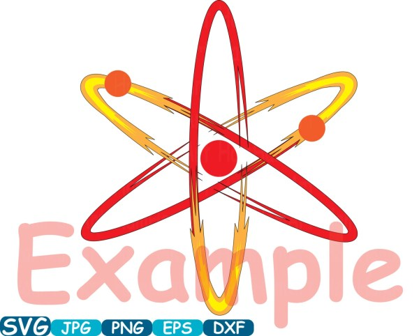 Atom Nuclear Fission Reactor Science Molecules Svg Cutting