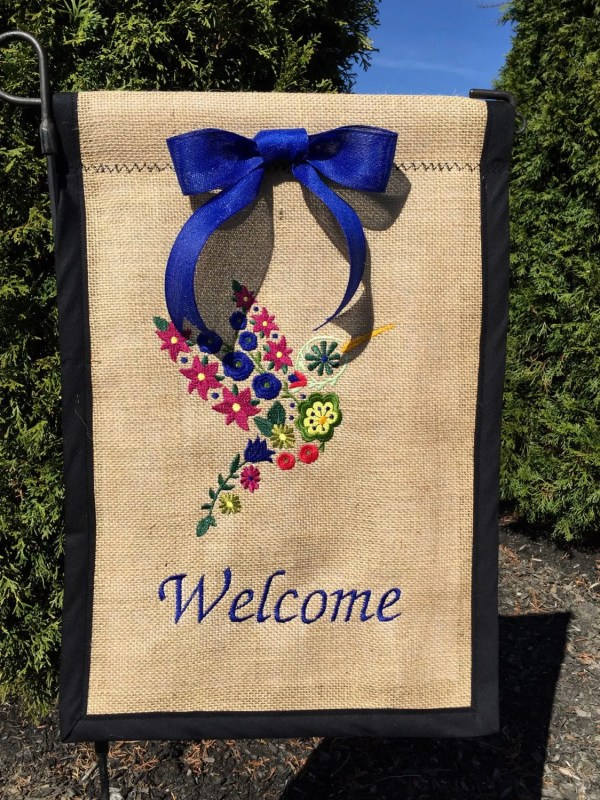 Burlap Flag Initial Personalized Outdoor Flags