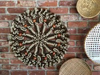 Vintage Round Macrame Woven Wall Art Large by ChattCatVintage