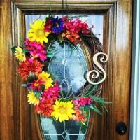 Front Door Decor Sunflower Wreath Summer Wreaths For Front