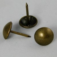 100 Decorative Upholstery Tacks - Antique Brass 7/16 ...