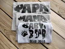 cb11288e Father Day Papa Bear And Baby Matching Shirt Set - Year of Clean Water