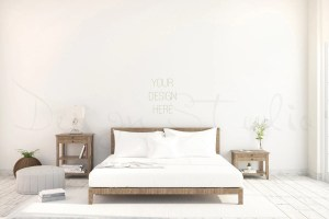 blank bedroom wall styled mockup interior background zoom something request order custom