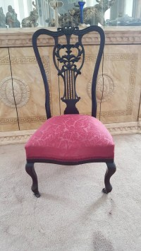 Items similar to lady chair (red silk)