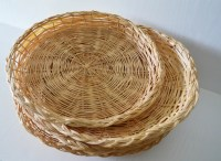 Wicker Paper Plate Holders RV Decor Camping by theOceanBlueCo