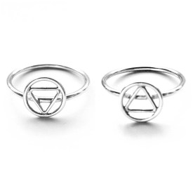 Triangle rings by Sweet Harriet Design