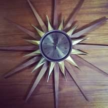 Mid-century Starburst Clock Atomic Welby 1960'