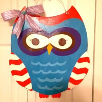 OWL Door Hanger Door Decoration Fall Decor by