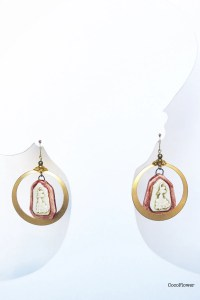 Gold hoop earrings Spanish earrings Flamenco by CocoFlowerShop