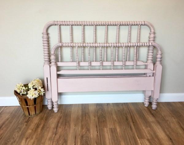 Jenny Lind Bed Three Quarter Pink Frame Antique