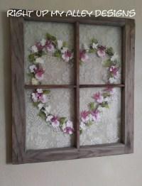 Old windowWindow wall artHeart by RightUpMyAlleyDesign on Etsy