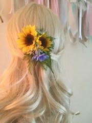 sunflower wedding hair clip