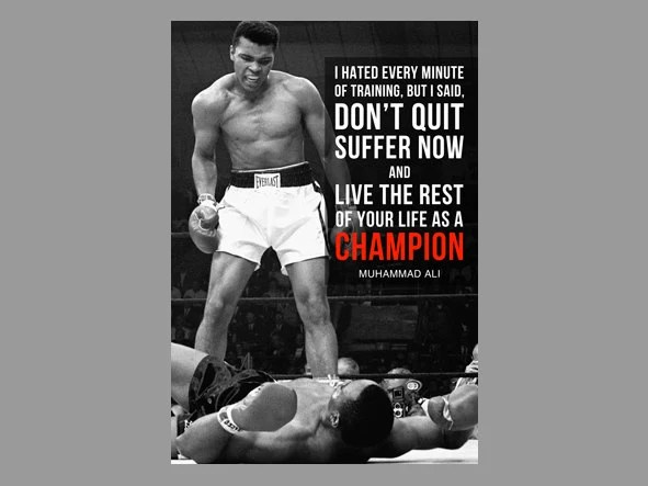 Muhammad Ali Custom Poster The fight is won Cassius Clay