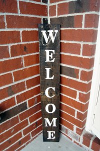 Rustic Welcome sign front door sign rustic front door decor