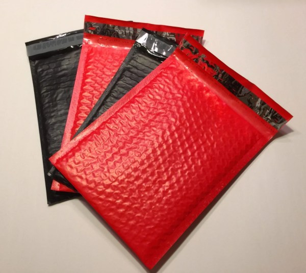 6x9 Bubble Mailers Red And Black 25 Size 0
