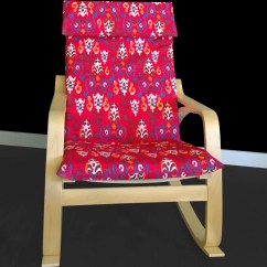 Unusual Chair Covers Red Wood Dining Chairs Flower Print Poang Cover Unique Ikea Seat