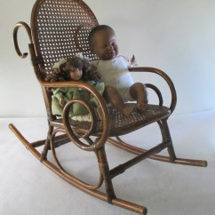 Rocking Chair Cane Grey Velvet Dining Chairs Thonet Style Child 39s Vintage Bentwood