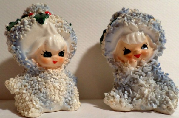Vintage Lefton Christmas Holly Snow Babyspaghetti