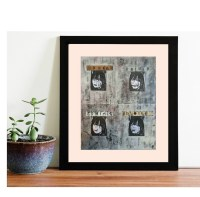 Urban Collage Artwork Edgy Wall Decor Unusual Collage Mixed