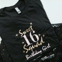 Items similar to Sweet sixteen squad graphic print on a t ...