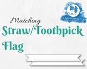 Matching STRAW/TOOTHPICK ...