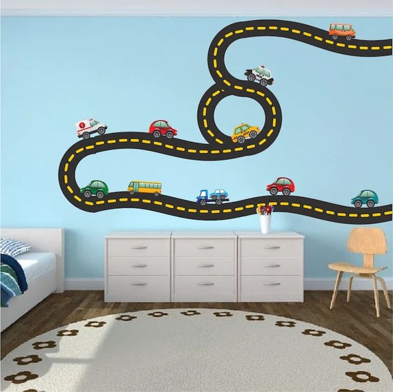Car Truck Road Wall Decal by PrimeDecal