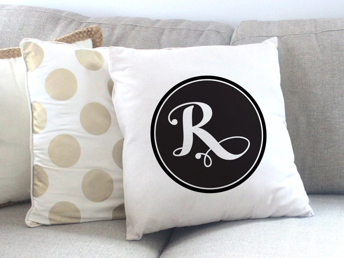 Personalized Initials Throw Pillows 18 X 18 Custom Pillow