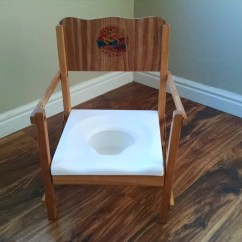 Wooden Potty Training Chair Pier 1 Vintage Folding Child  Haute Juice