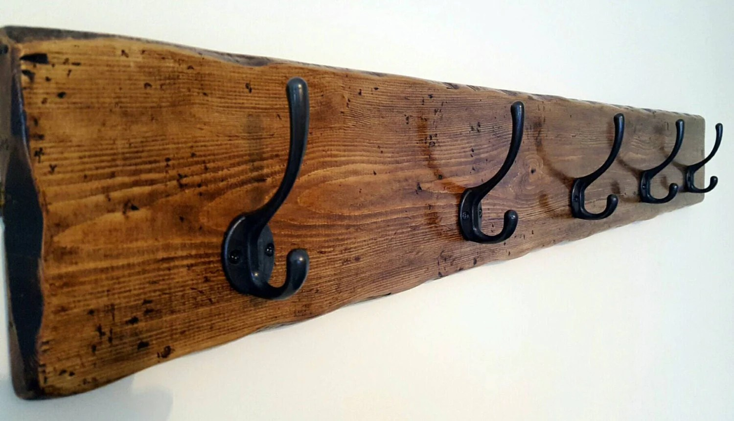 Coat rack Rustic Coat rack Wooden Coat rack Wall Coat