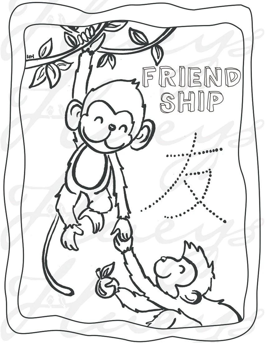 Items similar to Monkey coloring page activity Chinese New