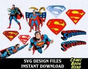super hero superman svg logos