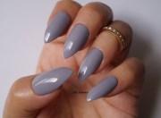 grey stiletto nails nail art