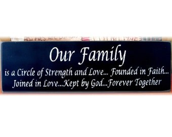 Download Items similar to Our Family is a circle of strength and ...