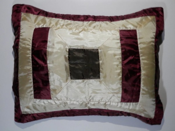 Pair Vtg Standard Queen Sz Boudoir Sateen Pillow Sham Cover