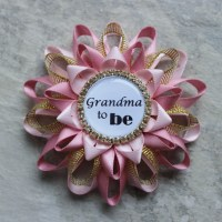 Pink and Gold Baby Shower Decorations New Grandma Gift