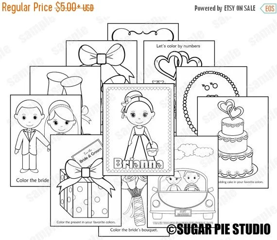 25% OFF SALE Mini Printable Personalized Wedding by