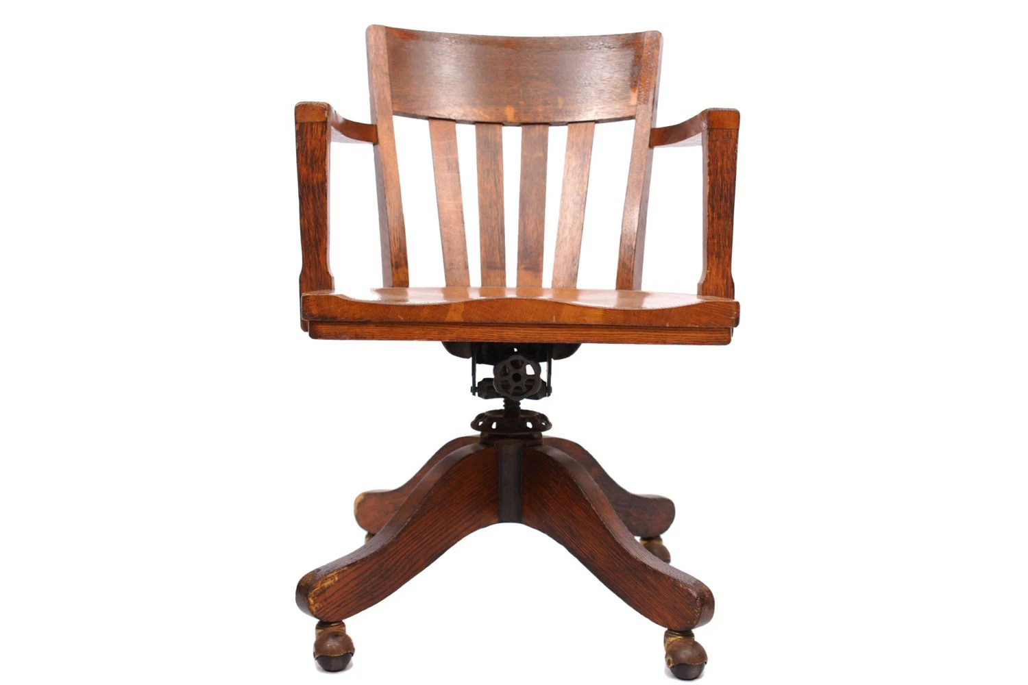 sikes chair company ethan allen club chairs antique office oak and iron swivel