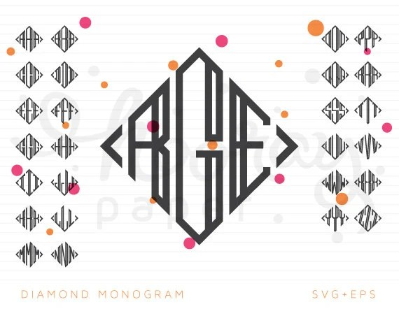 Monogram Frame SVG DXF Cutting Files Hindu Design EPS
