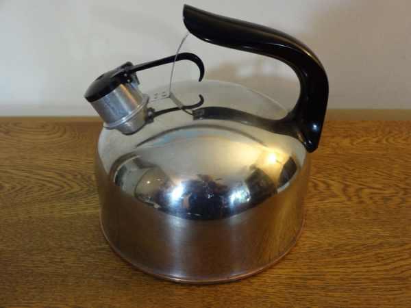 Vintage Revere Ware Stainless Steel Whistling Tea Kettle