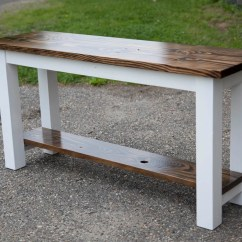 Build A Rustic Sofa Table Waterproof Covers For Incontinence Solid Wood Entryway Buffet Built