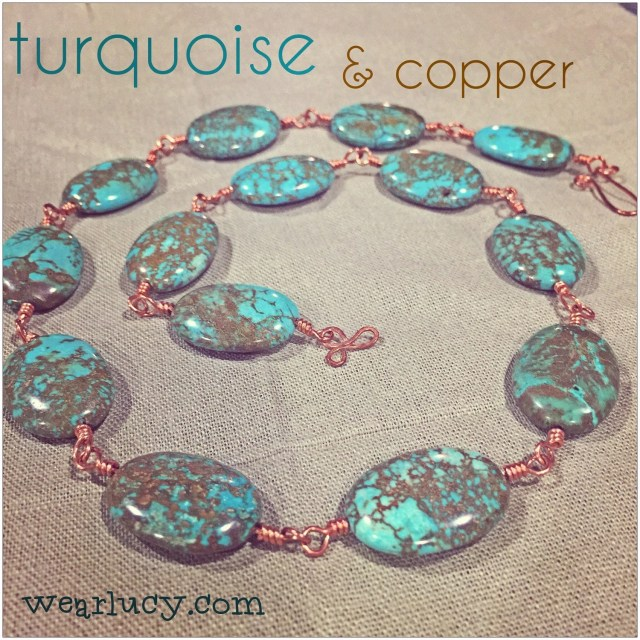 Turquoise and copper neck...