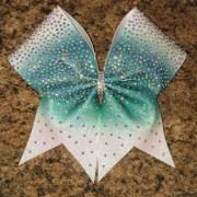 cheer bow rhinestone ombre