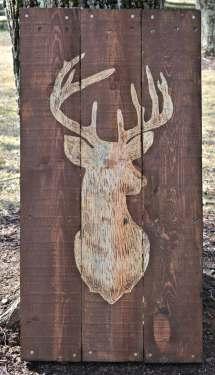 Deer Buck Pallet Wood Art Sign Decor Hunting