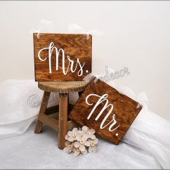 Mr And Mrs Chair Signs Massage Therapist Wedding Set