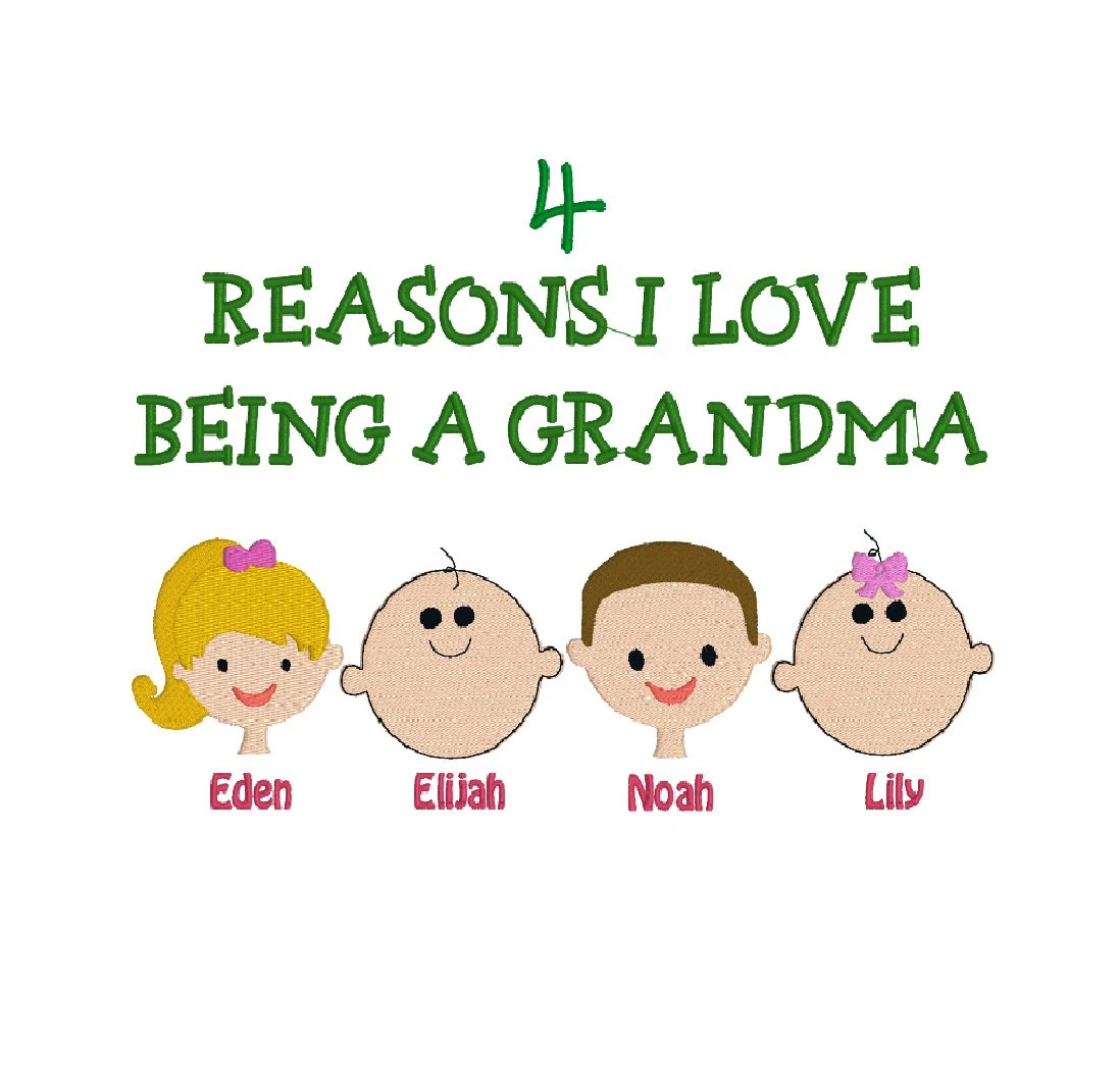 Download Reasons I Love Being a Grandma Grandpa Daddy Mommy Aunt