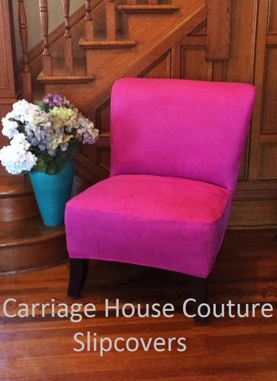 slipcover for armless slipper chair kohls rocking magenta suede cover
