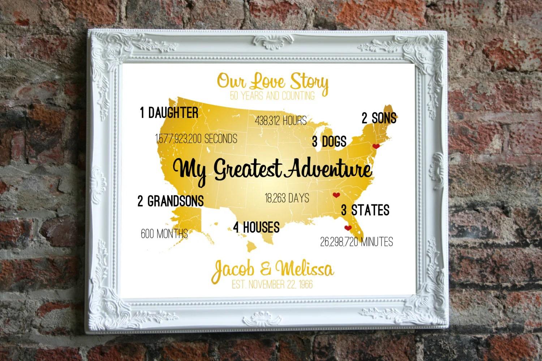 Golden Anniversary Gift Ideas Golden Wedding Anniversary